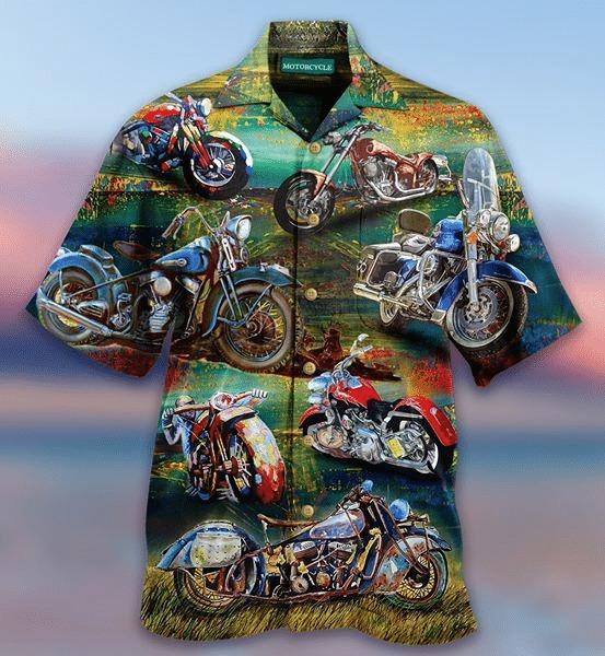 Freedom is a full tank motorcycles hawaiian shirt