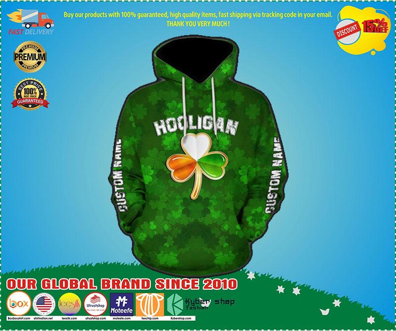 Hooligan irish hooligan stay true till death custom name 3D hoodie