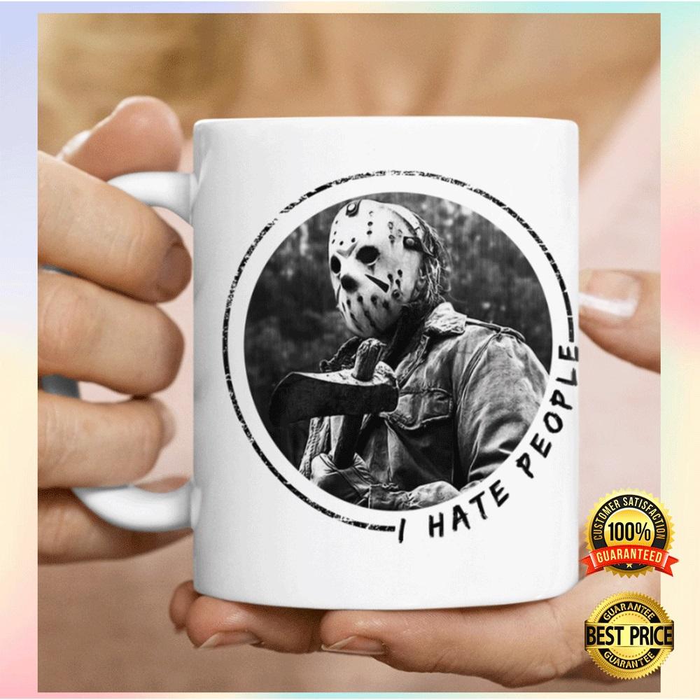 Jason Voorhees i hate people mug1