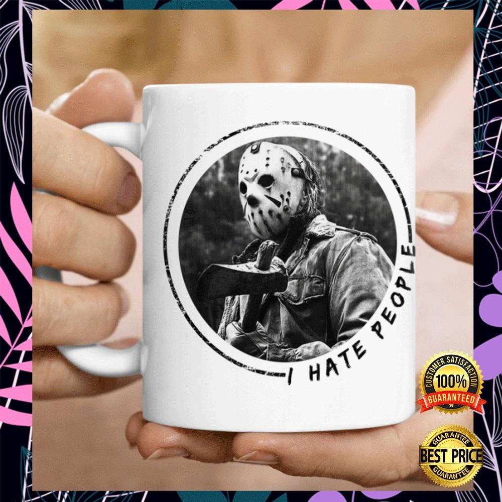 Jason Voorhees i hate people mug2