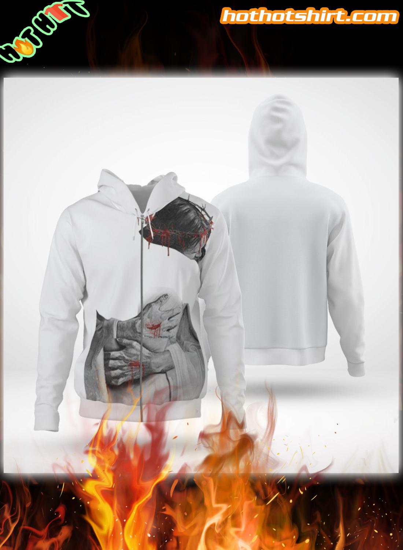 Jesus hugging 3D All Over Printed hoodie