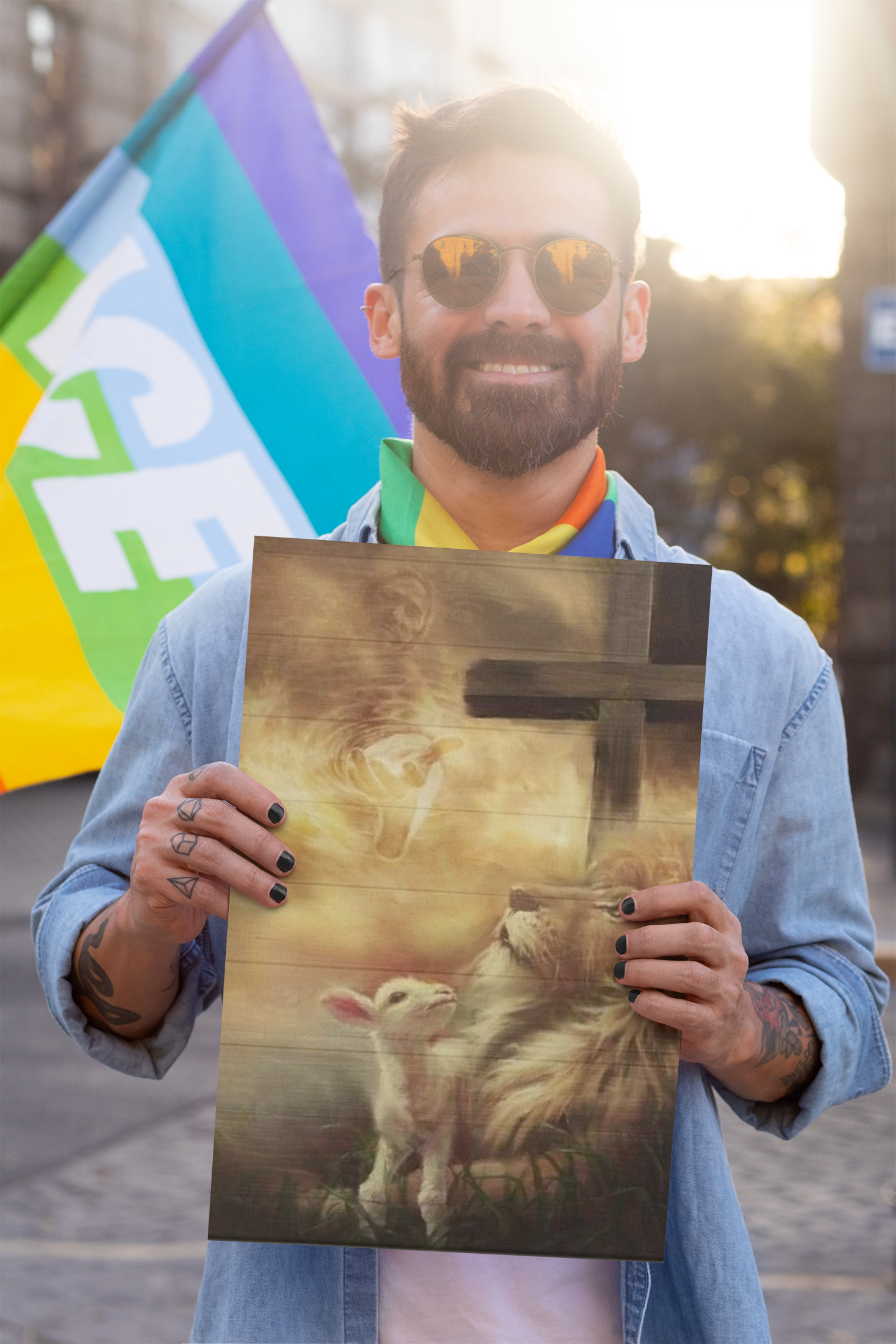 [LIMITED EDITION] Jesus lion and lamb Canvas