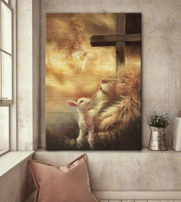 Jesus lion and lamb Canvas