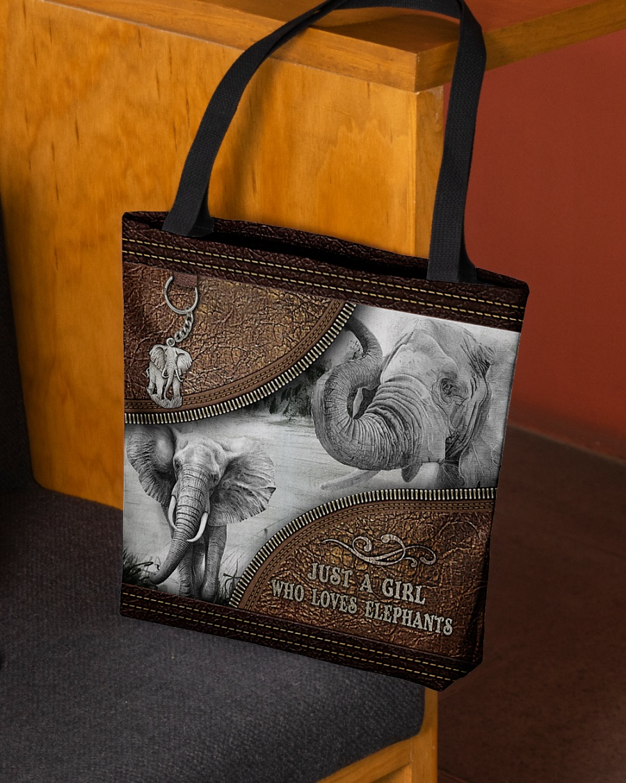 [LIMITED EDITION] Just a girl who loves elephants tote bag