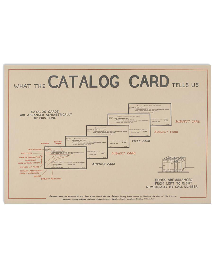 Librarian catalog card tells us poster