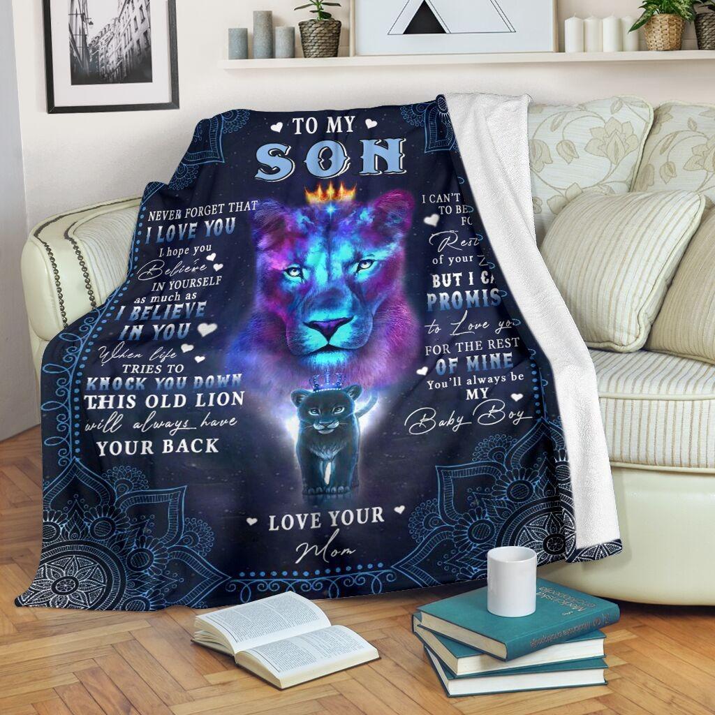Lion To my son bedding set