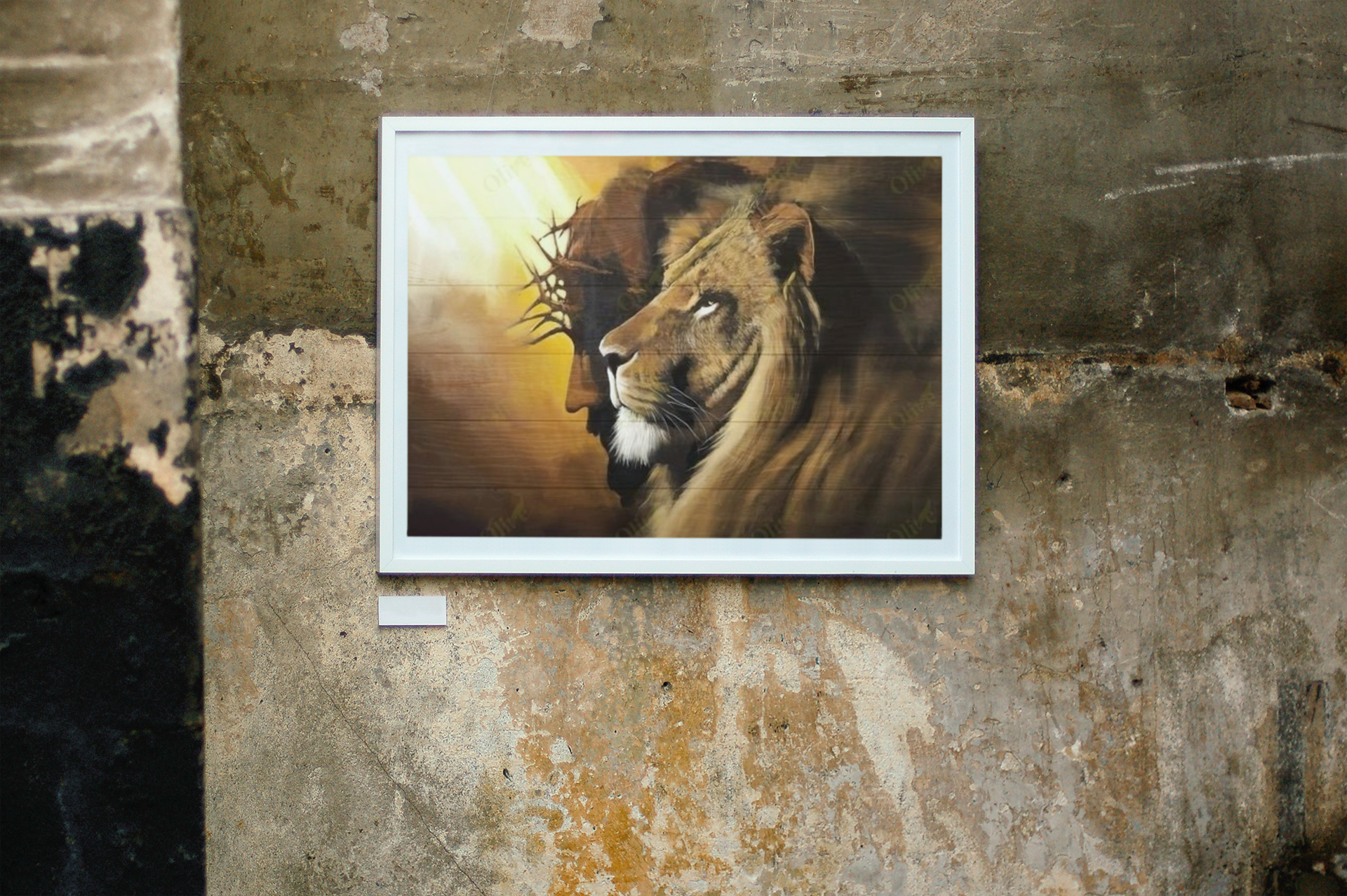 [LIMITED EDITION] Lion and god canvas poster