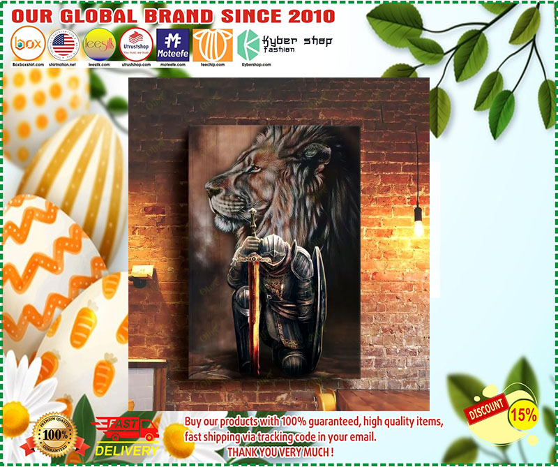[LIMITED EDITION] Lion and warrior knight canvas
