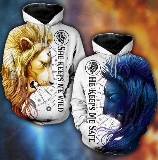 [Limited Edition] Lion moon sun 3D hoodie and legging