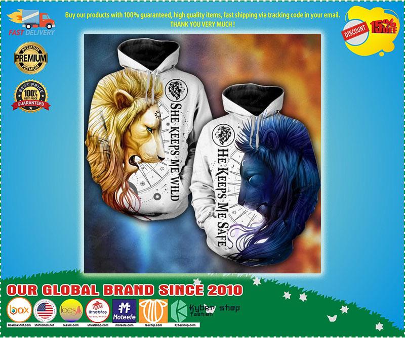 Lion moon sun 3D hoodie and legging ă
