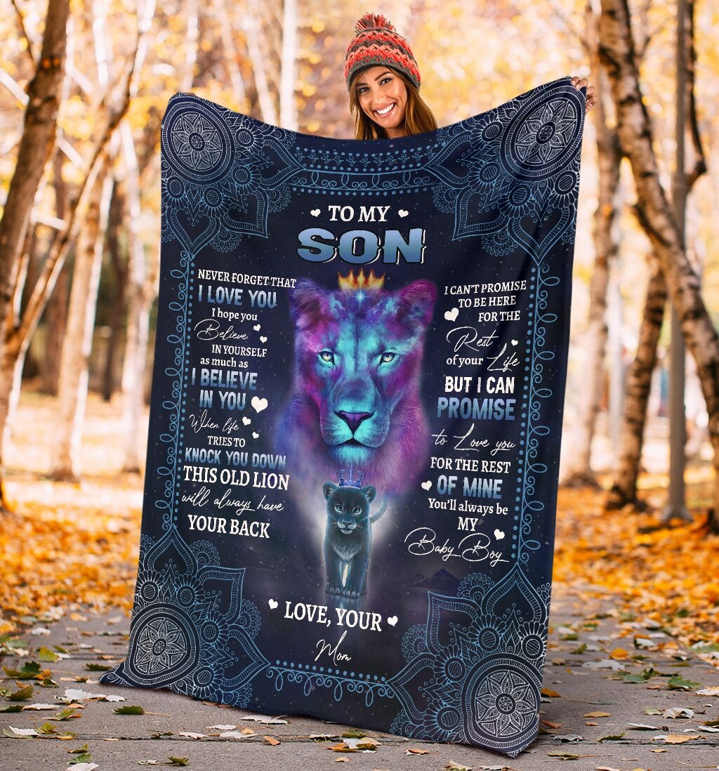 [LIMITED EDITION] Lion to my son never forget that I love you blanket