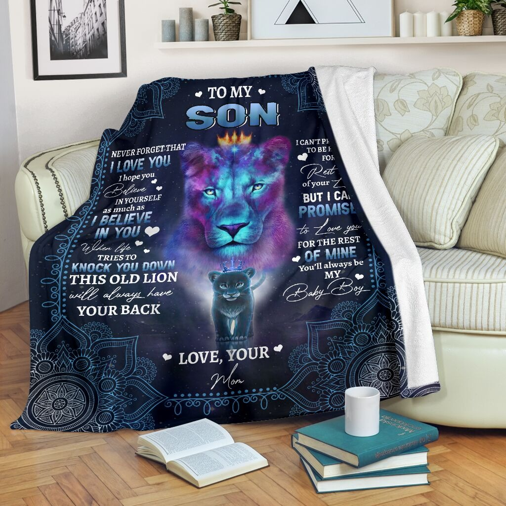 Lion to my son never forget that I love you blanket