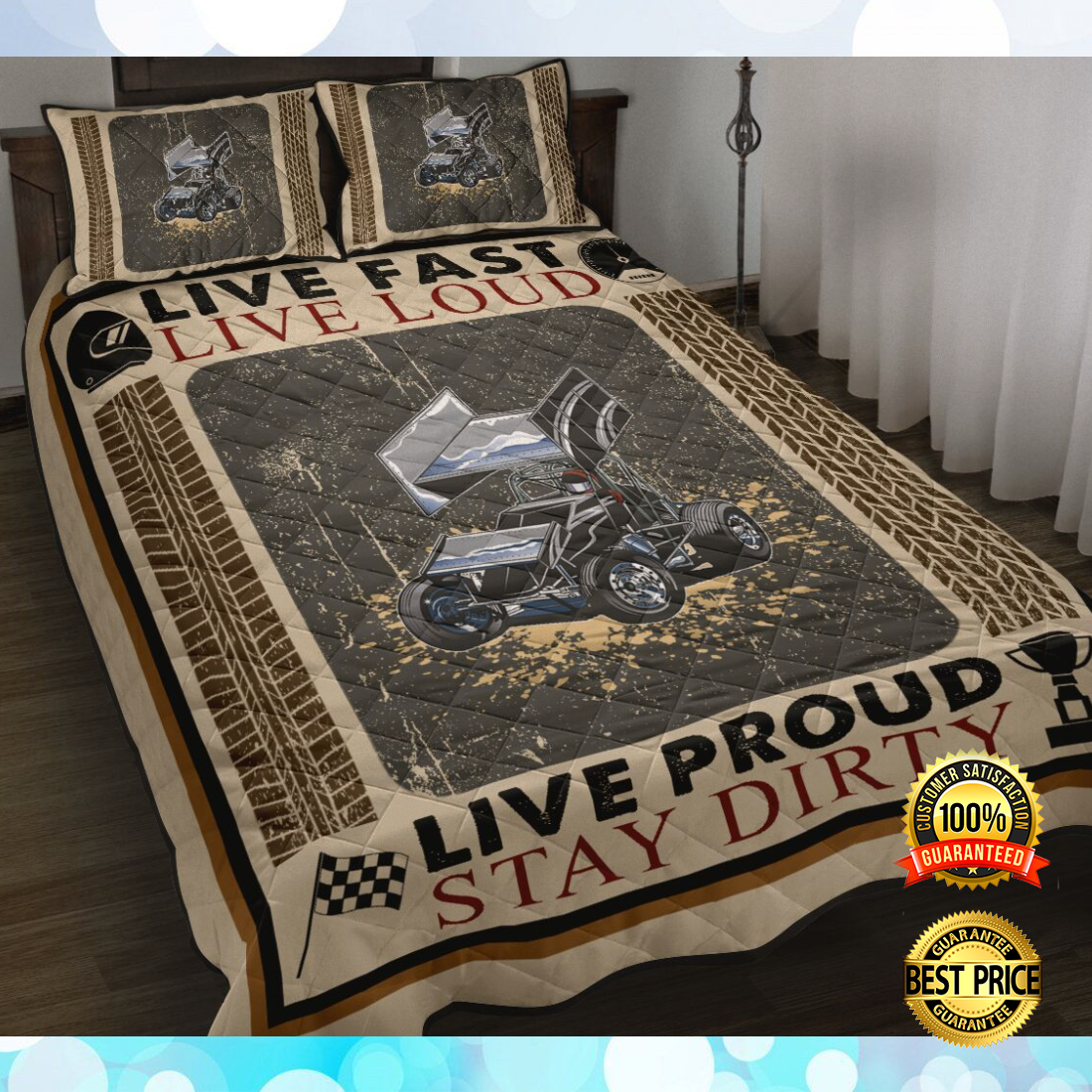 Live fast live loud live proud stay dirty bedding set 5