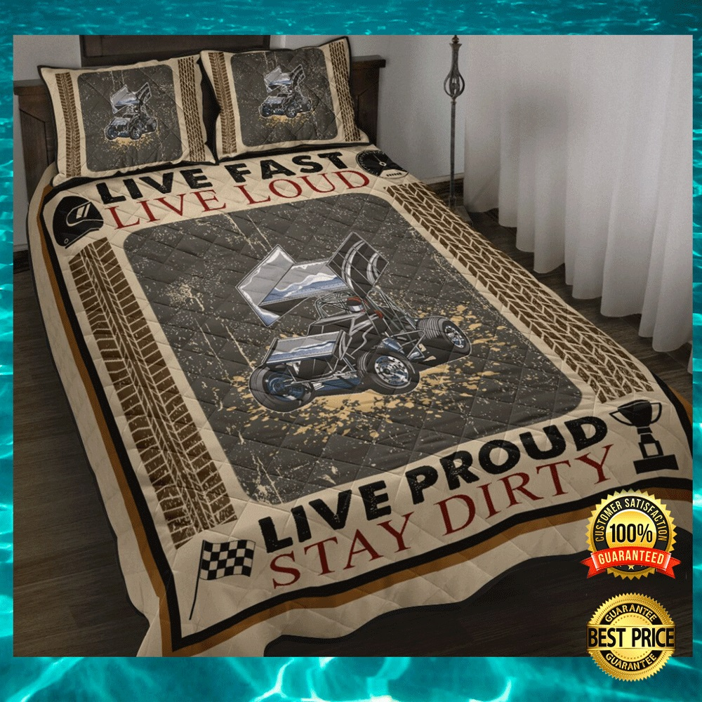 Live fast live loud live proud stay dirty bedding set1