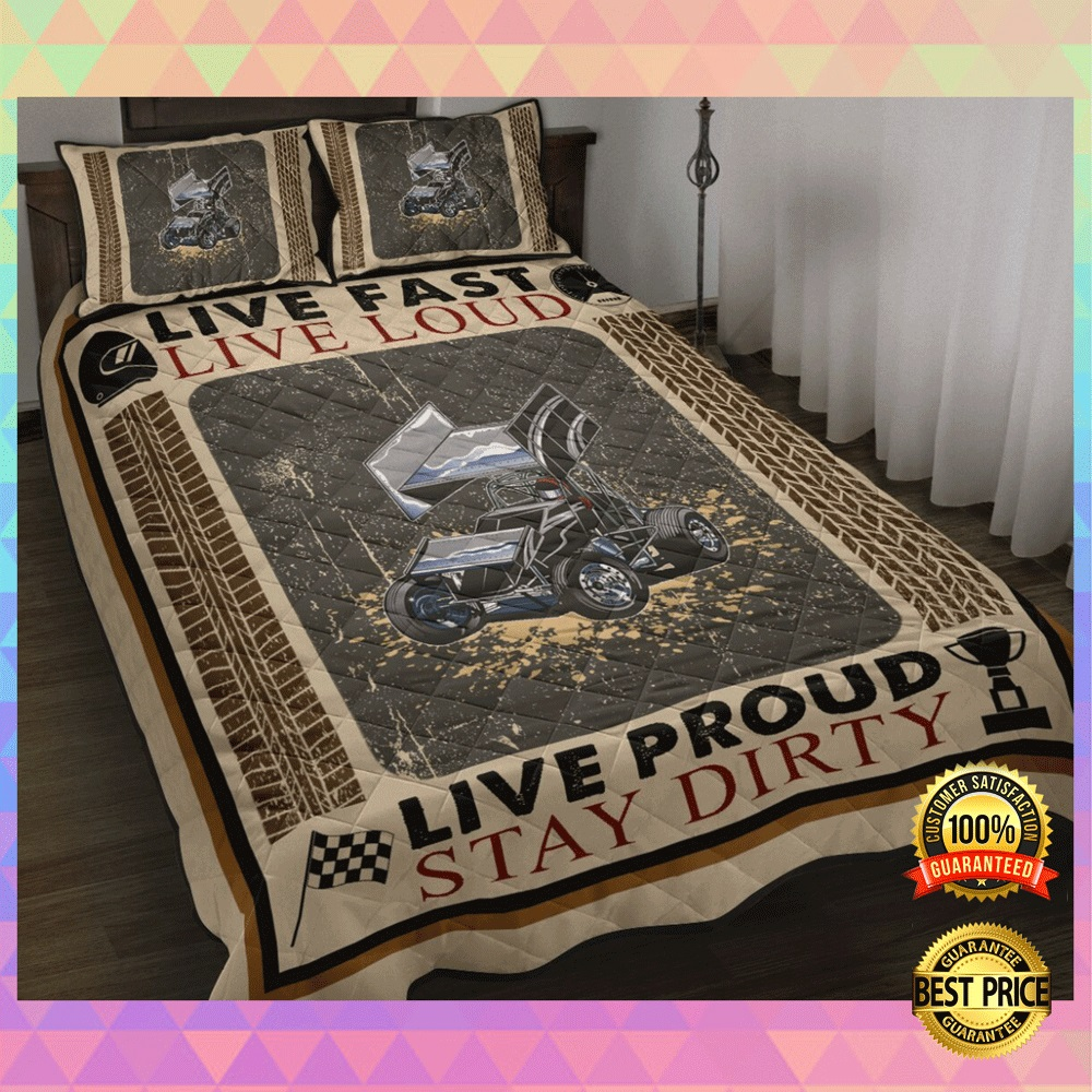 Live fast live loud live proud stay dirty bedding set2