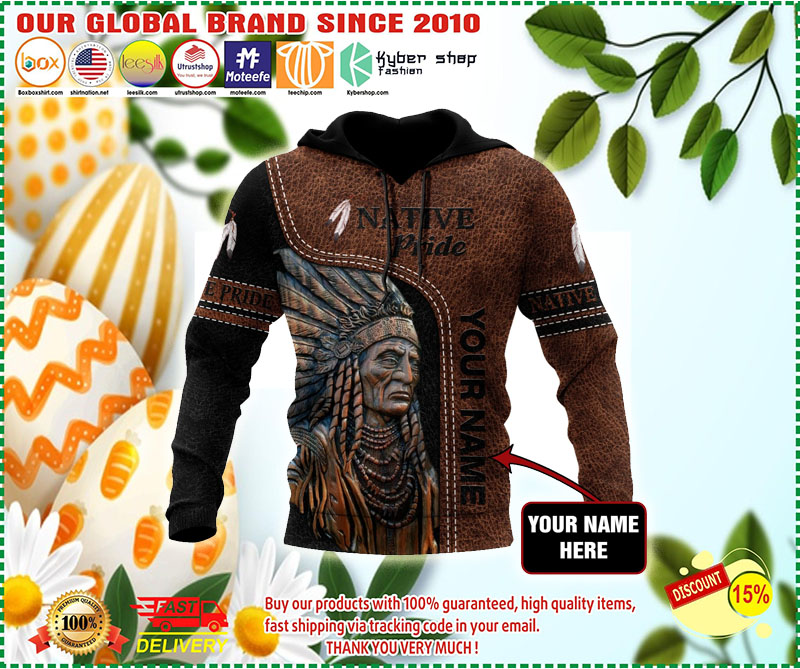 [LIMITED EDITION] Native American Pride 3D hoodie custom name