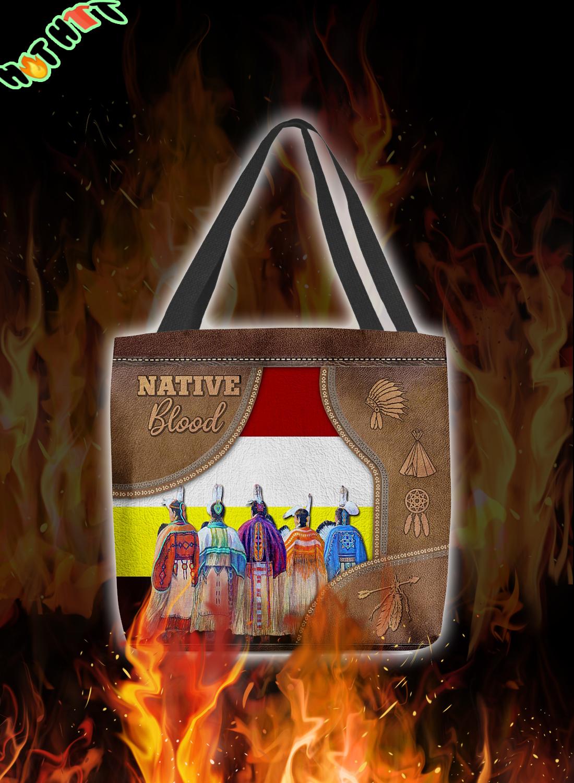 Native Blood Tote Bag