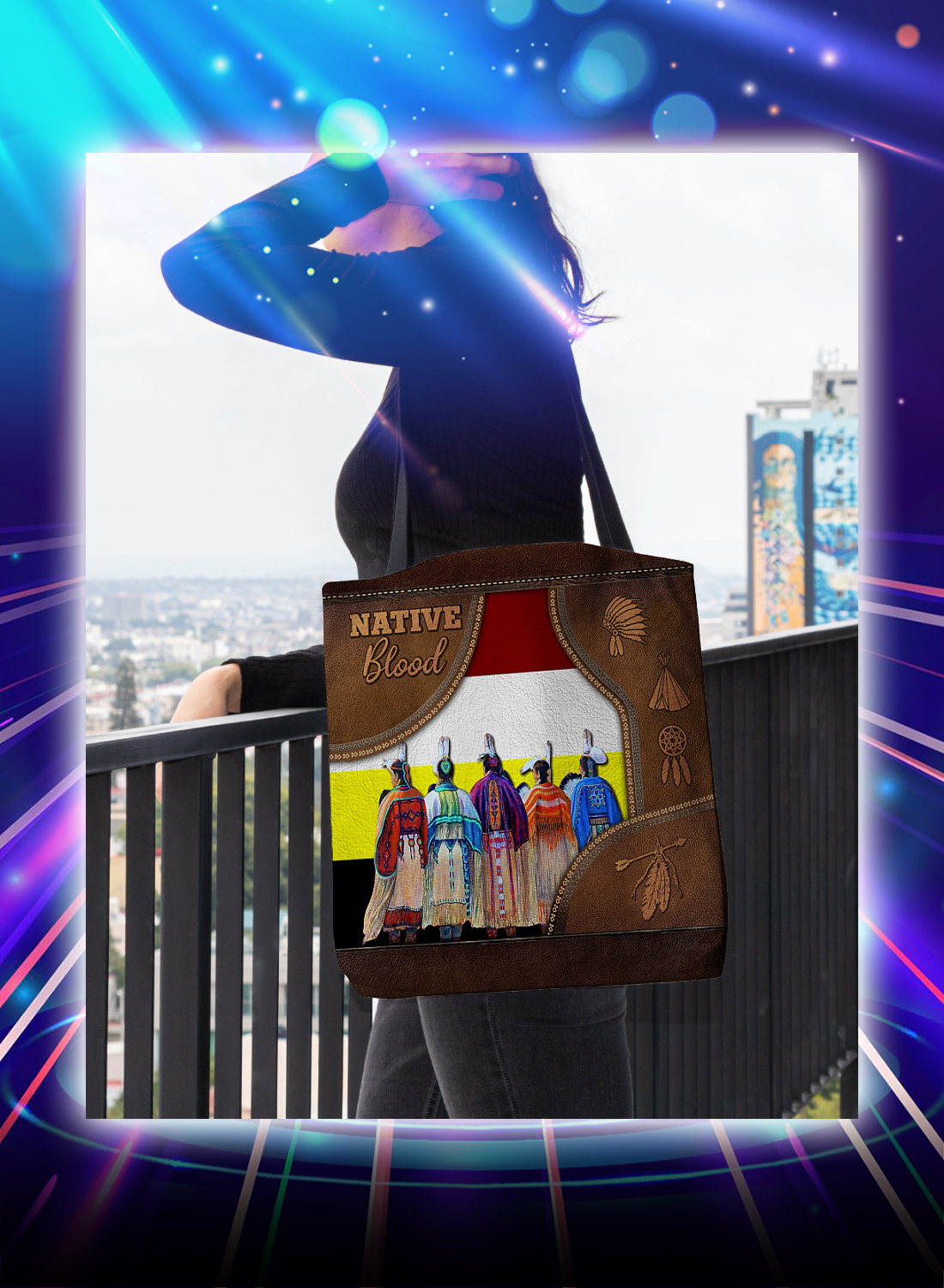 Native blood tote bag - Picture 2