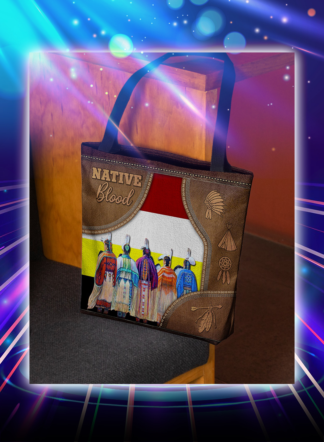 Native blood tote bag - Picture 3