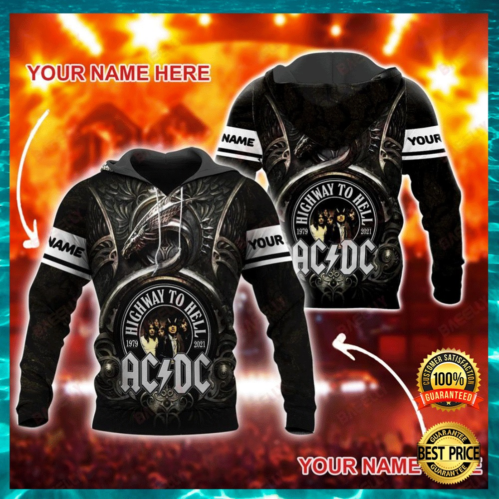 Personalized AC DC highway to hell all over printed 3D hoodie1