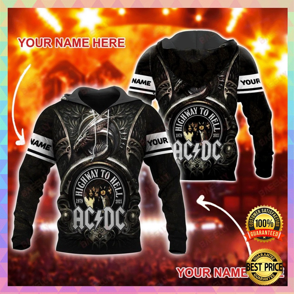 Personalized AC DC highway to hell all over printed 3D hoodie2