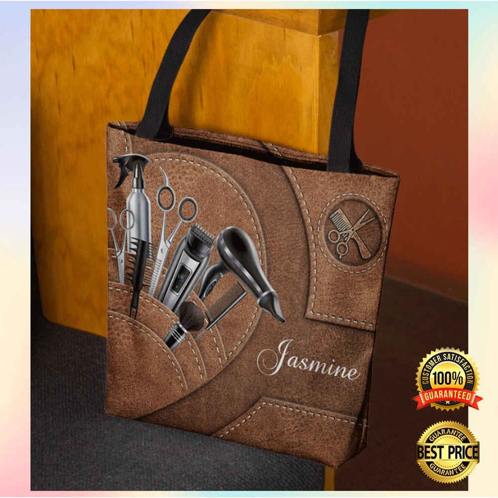 Personalized hair stylist tools tote bag1