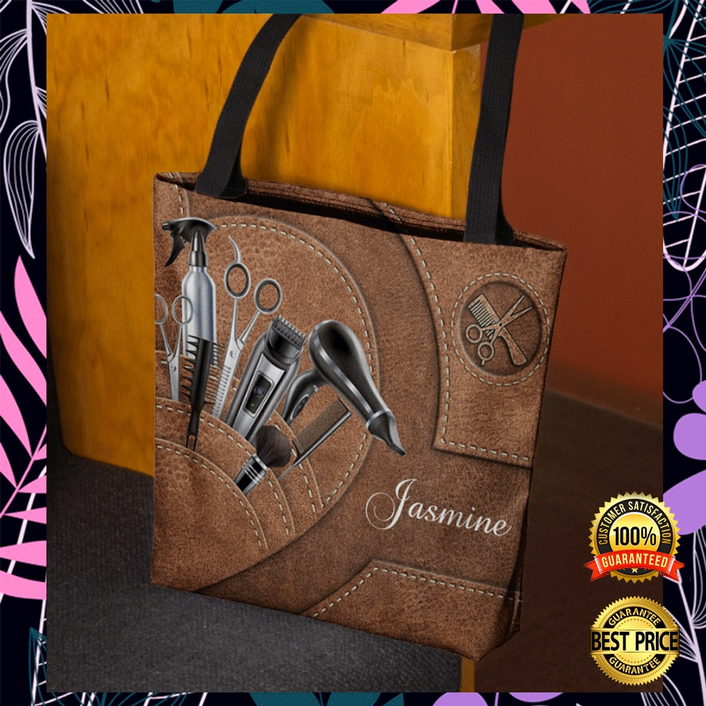Personalized hair stylist tools tote bag2
