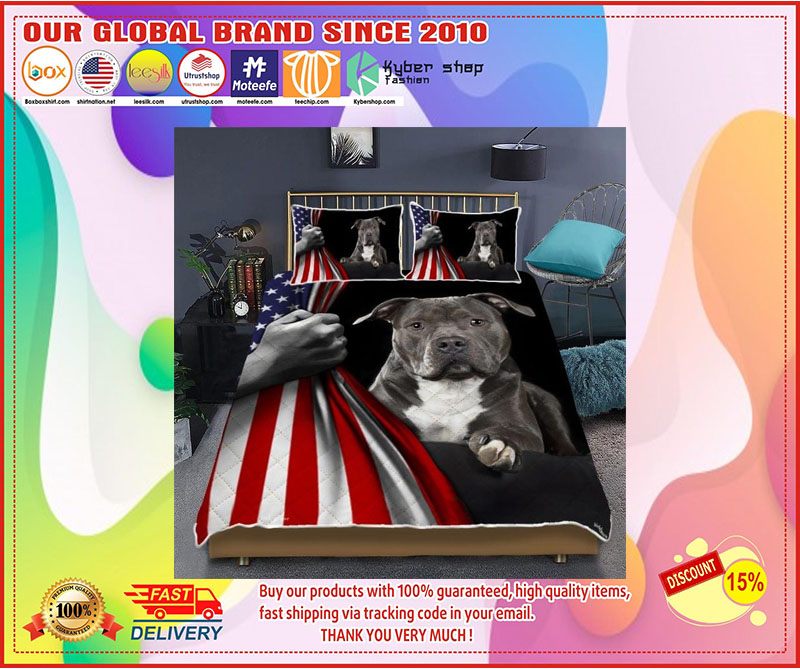 [LIMITED EDITION] Pitbull American Flag Bedding set