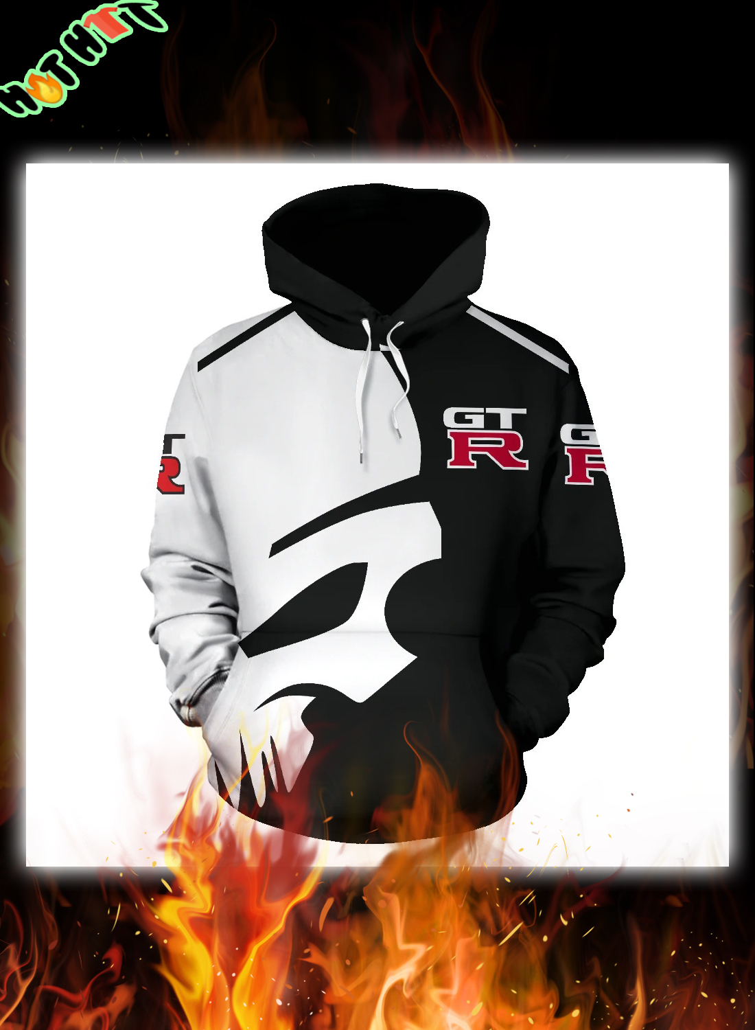 Punisher GTR 3D all over printed hoodie