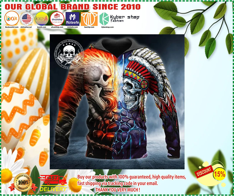 [LIMITED EDITION] Skull war native 3D hoodie