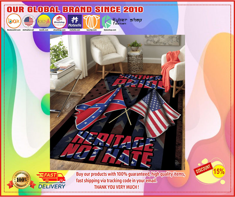 [LIMITED EDITION] Souther pride Heritage not hate confederate rug