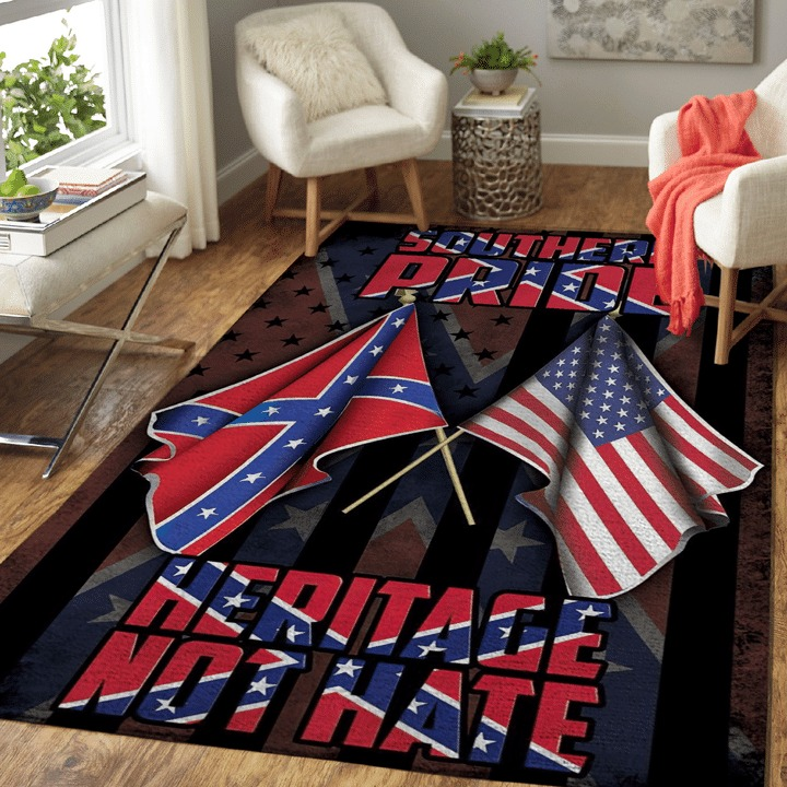 Souther pride Heritage not hate confederate rug