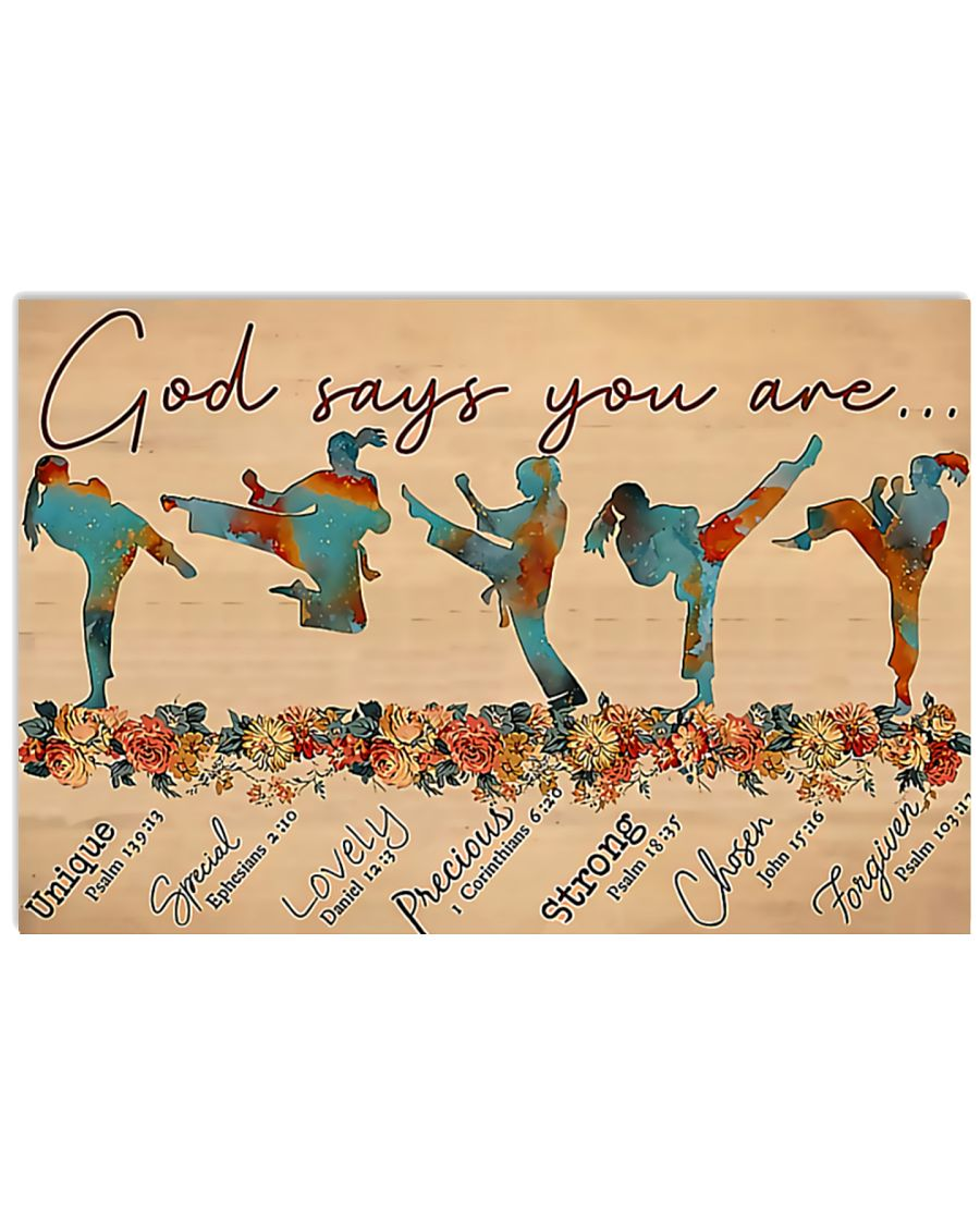 Taewondo god says you are poster