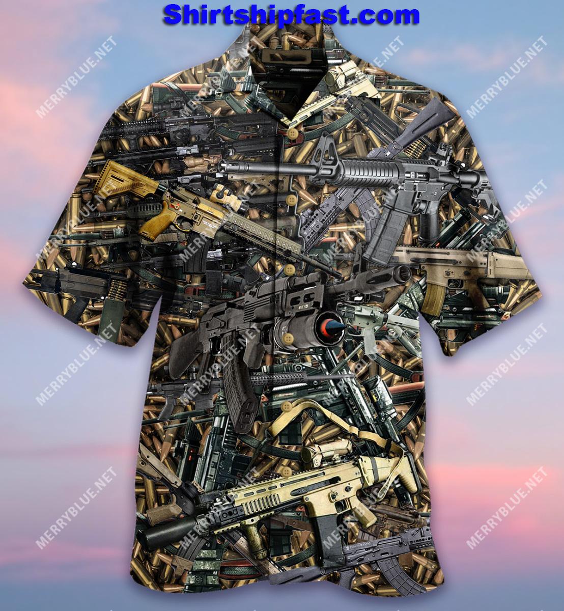 The quickest way to a mans heart is 2970 feet per second hawaiian shirt