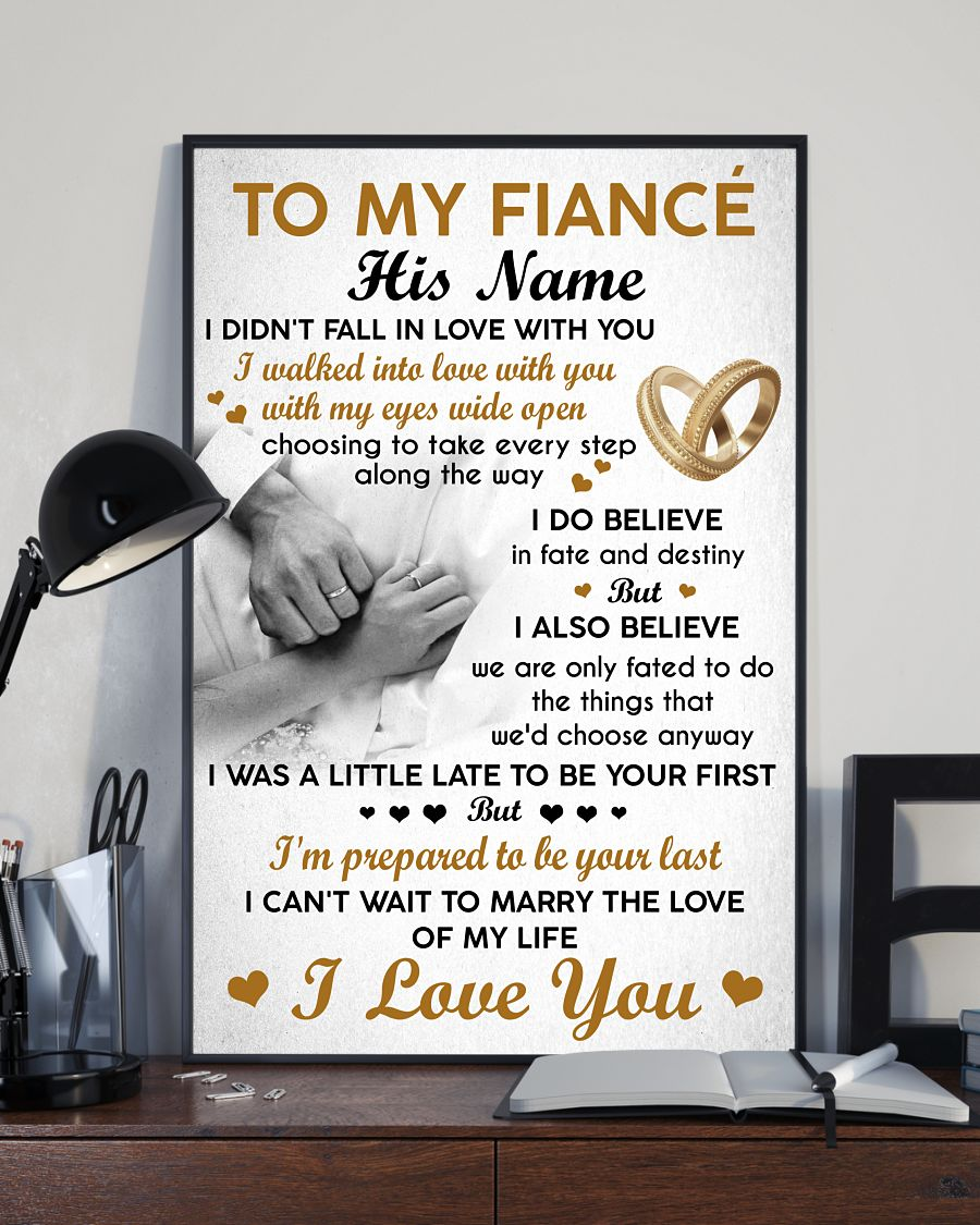 [LIMITED EDITION] To my fiancé custom personalized name poster