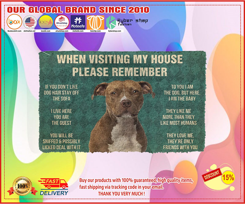 [LIMITED EDITION] When visiting my house please remember terrier dog doormat