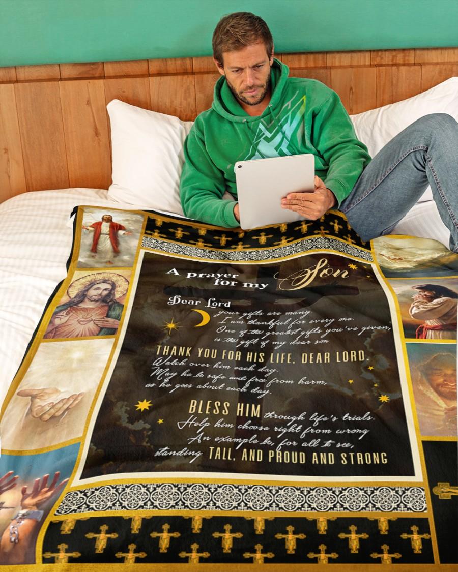 A prayer for my son blanket