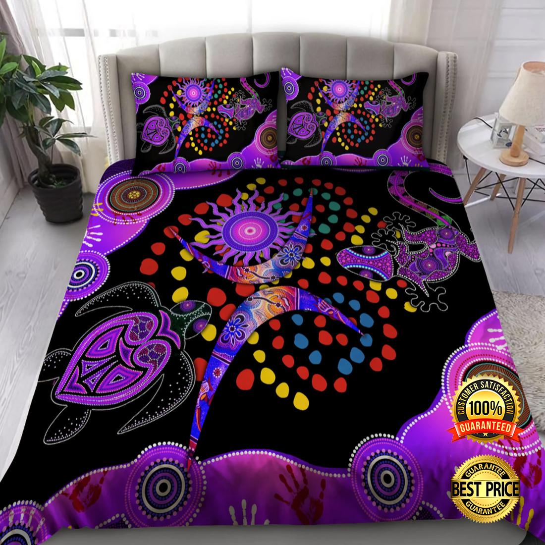 Aboriginal Naidoc week Turtle Lizard bedding set 4