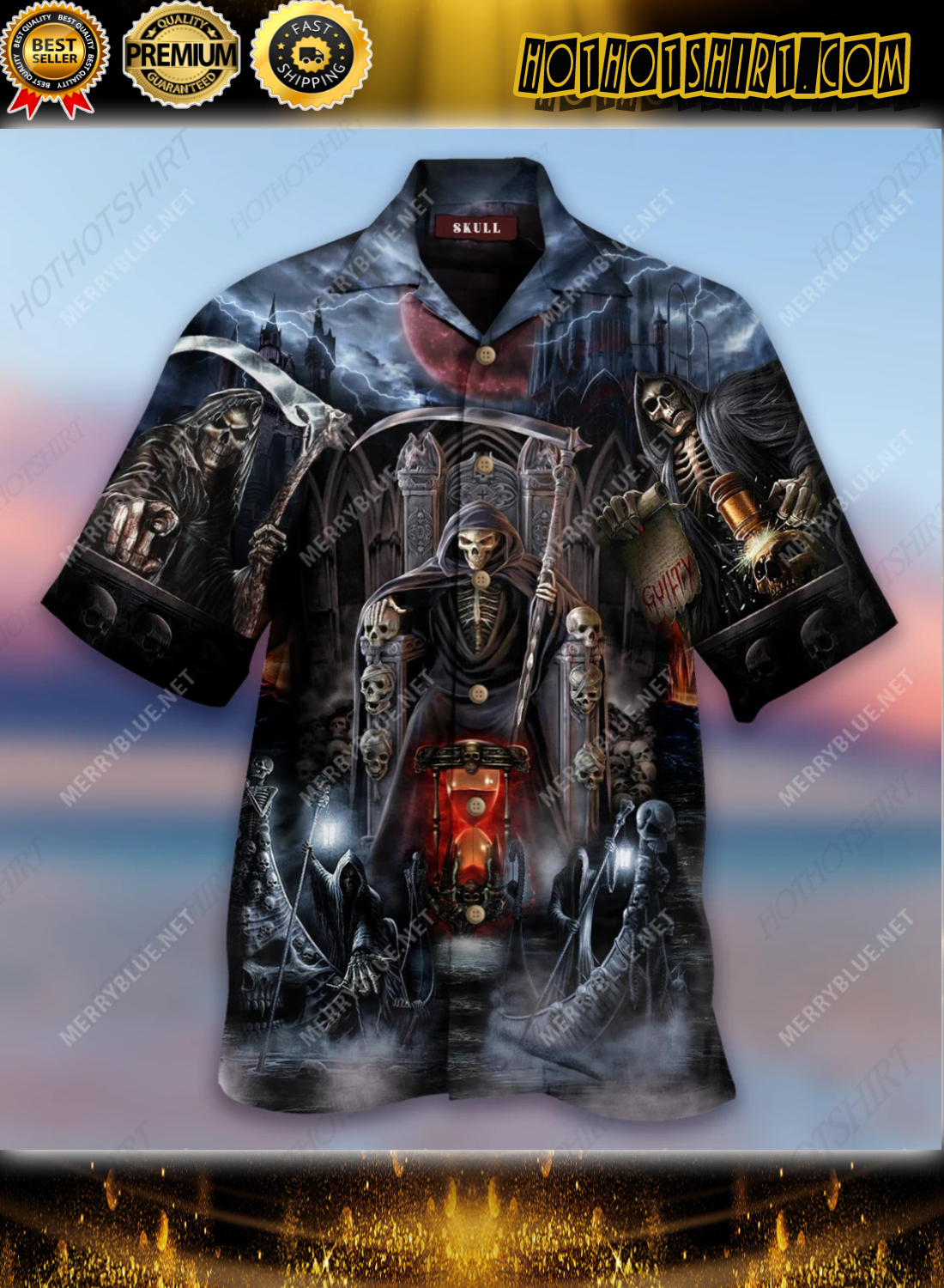 And Death Will Have His Day Short Sleeve Shirt 1