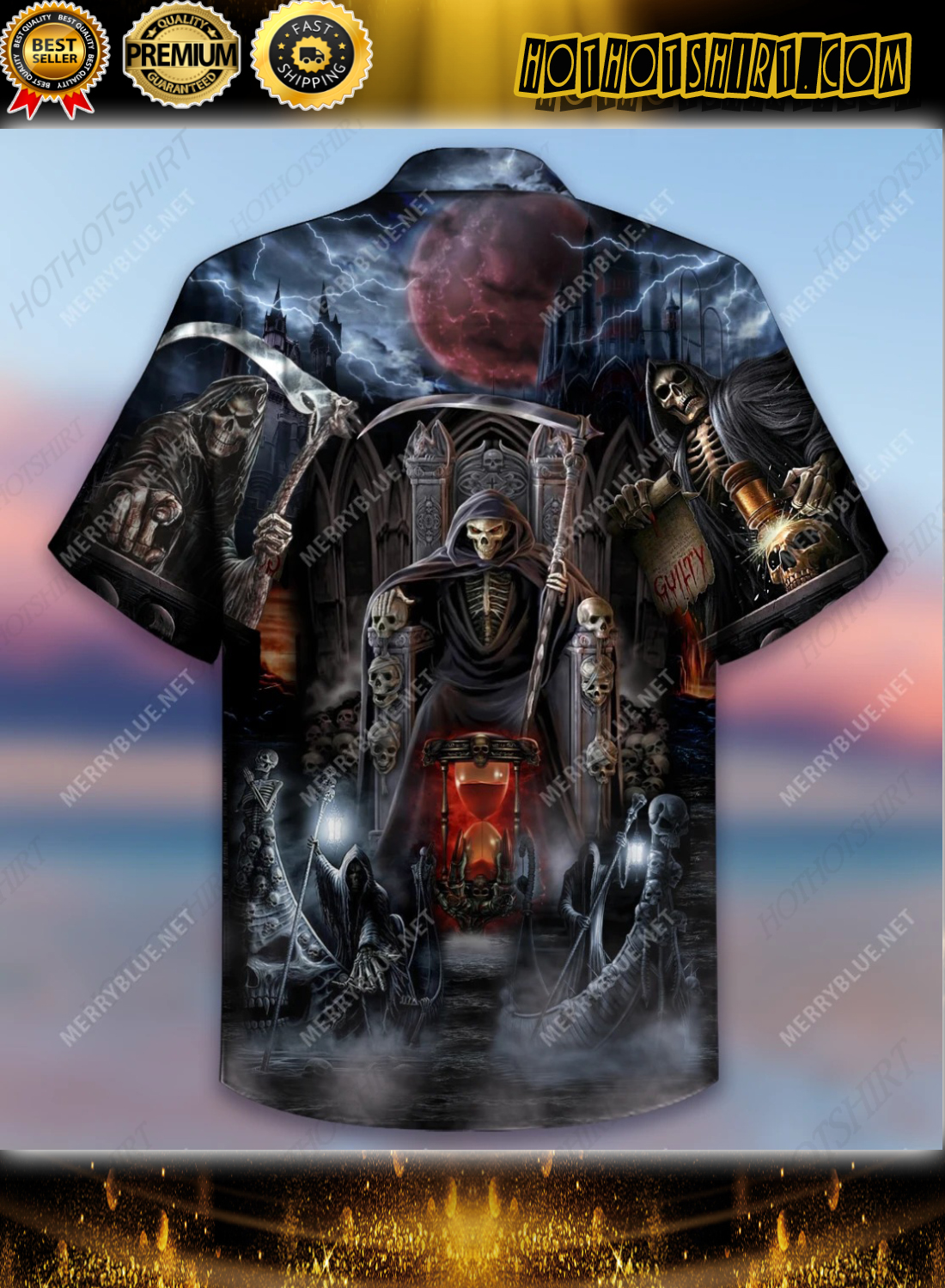 And Death Will Have His Day Short Sleeve Shirt 2