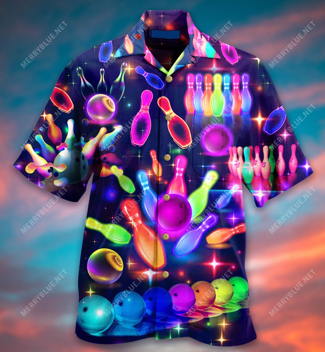 Bowling this is how i roll hawaiian shirt