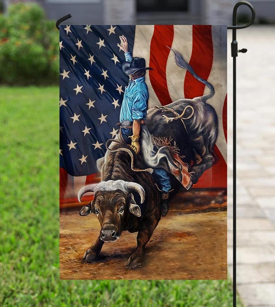 Bull riding flag 1