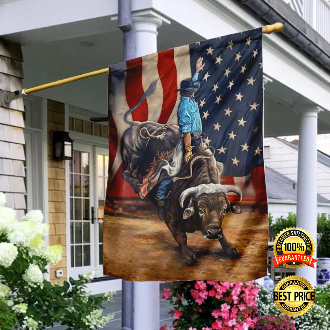 Bull riding flag 3