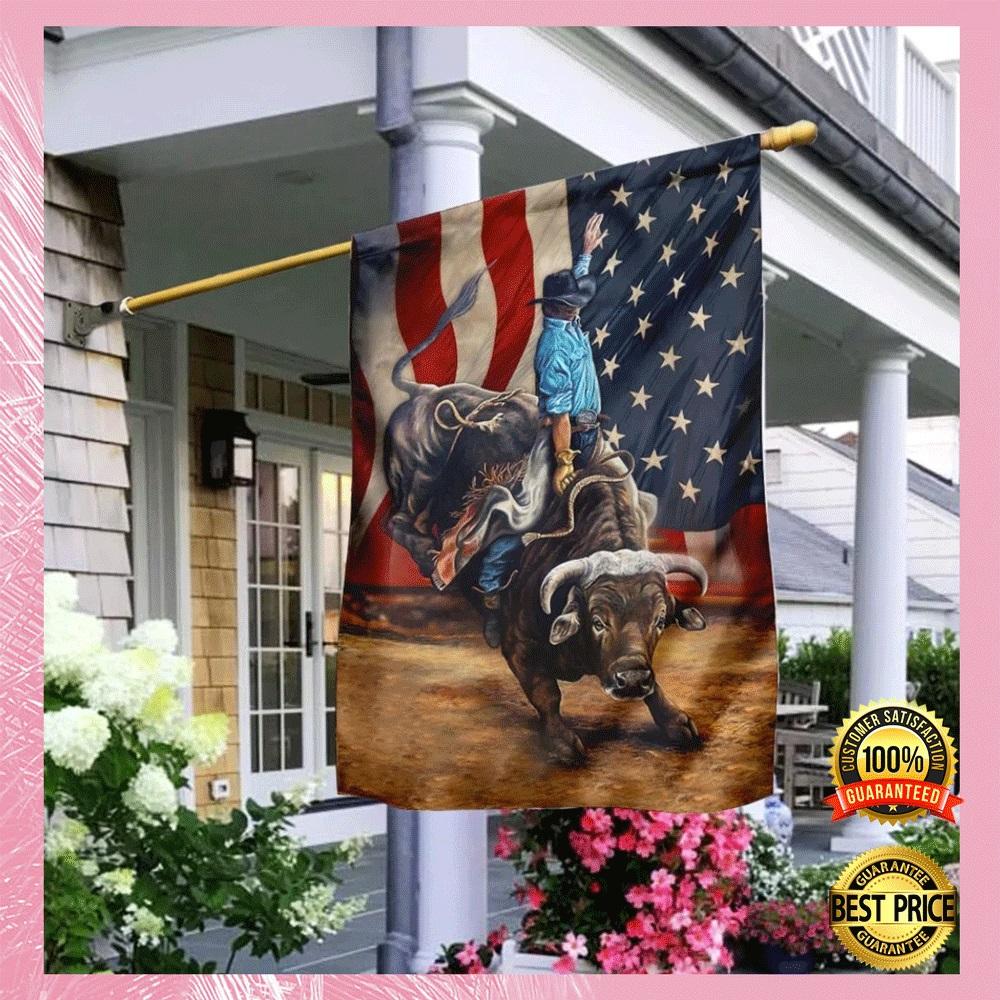 Bull riding flag1