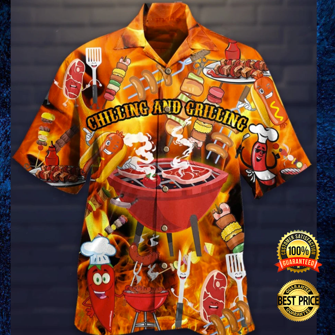 Chilling and grilling hawaiian shirt 4