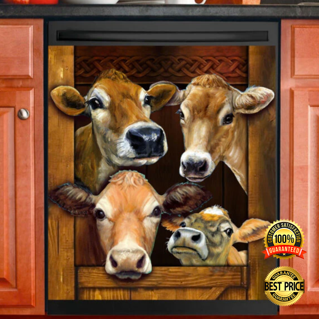 Cow decor dishwasher cover 4