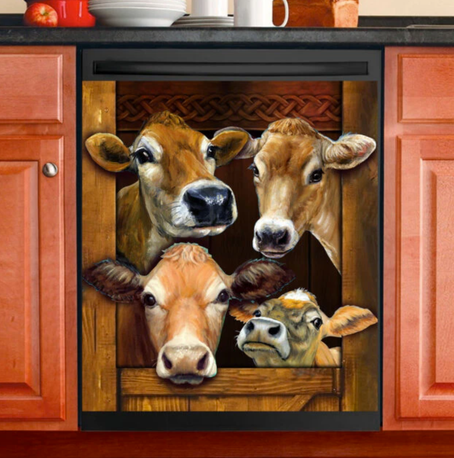 Cow decor dishwasher cover