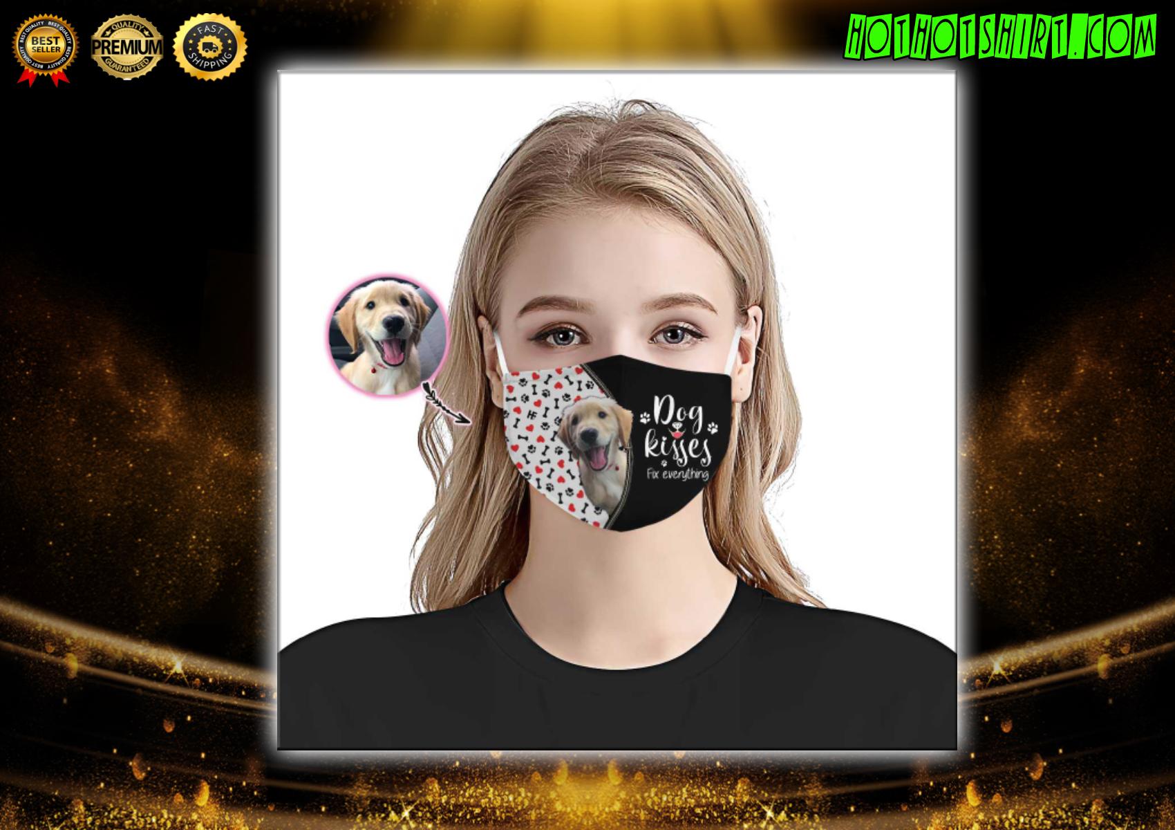 Dog Kisses Fix Everything Custom Face mask 2