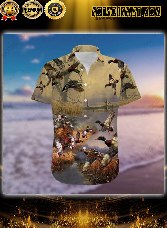 Duck Hunting Hawaiian Aloha Shirt 1