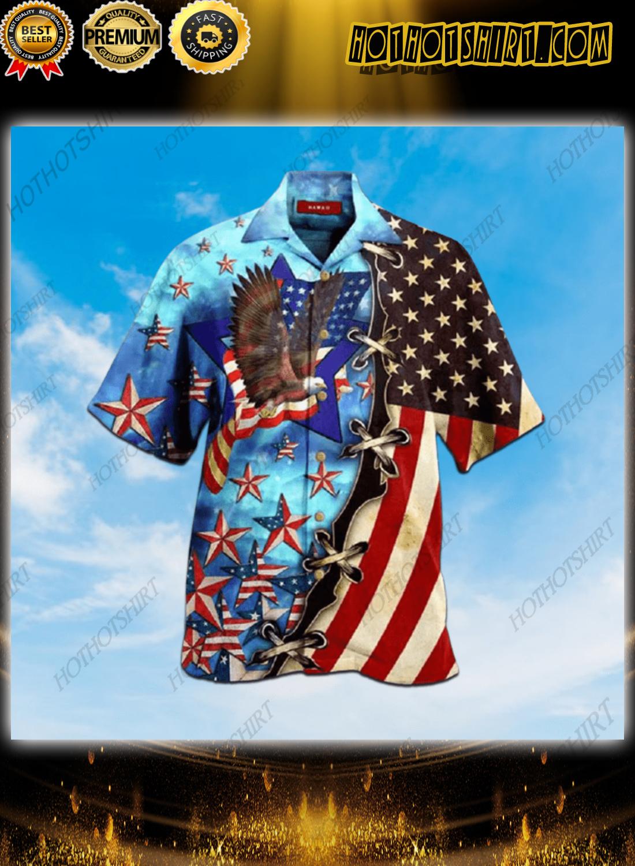 Eagle American Blue Skylight Hawaiian Unisex Shirt 1